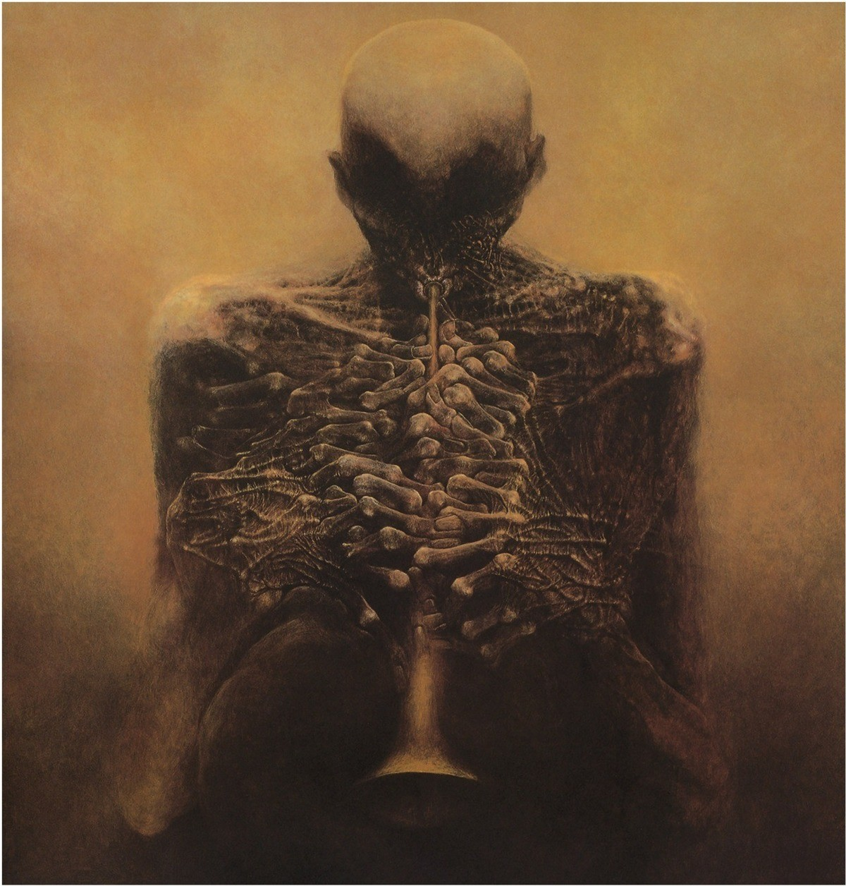 uptight ambient Butterfly. .. The trumpeter be zdzisław beksiński. Dude made a bunch of nightmare art