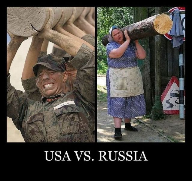 USA vs RUSSIA. there you go, might be repost, dont know, dont care. USA Irs. RUSSIA. this makes me proud to be russian