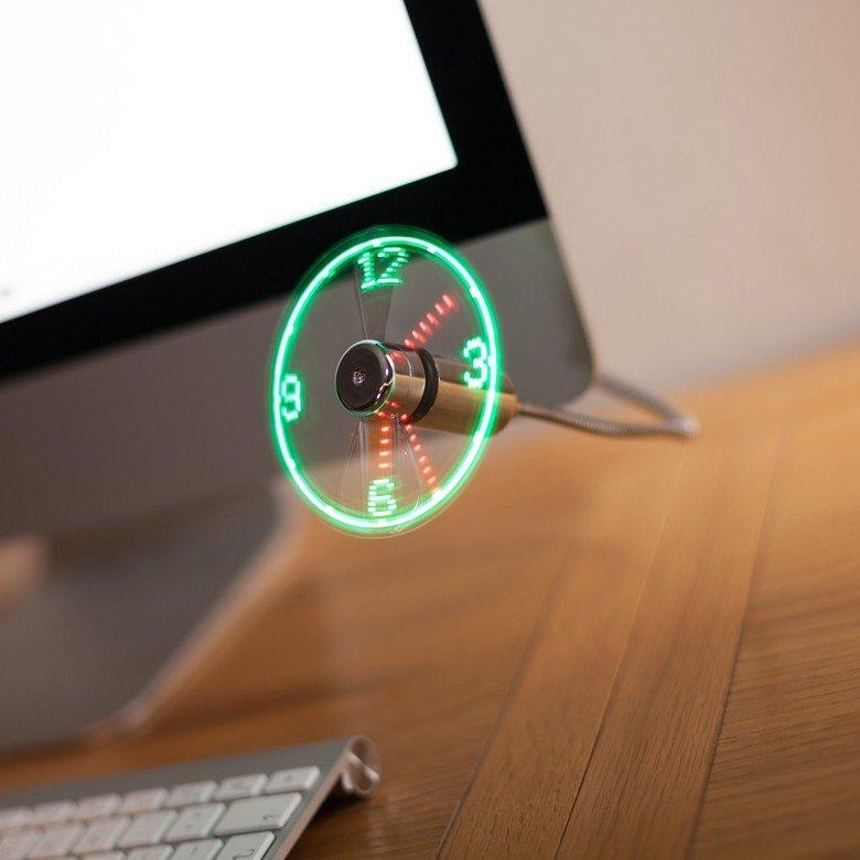 USB clock/fan. Guess you can say time flies.