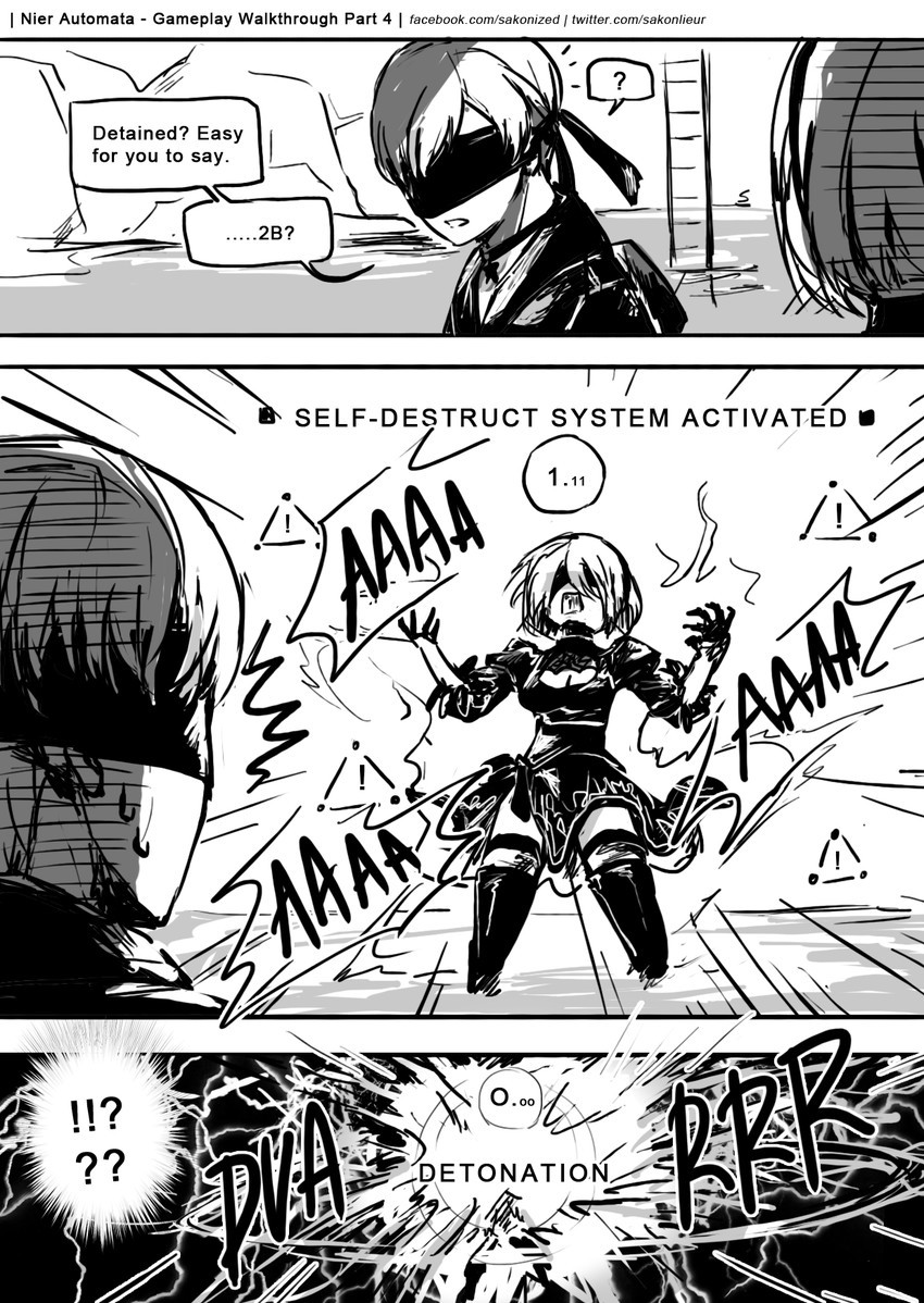 Using The Self Destruct in Nier Automata. Artist sauce is on top of pictures join list: ThiccThighs (4565 subs)Mention History join list: