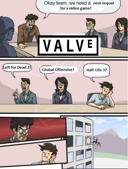 Valve.. Insert witty description here... Bro. Bro. Bro. BRO. This was on FP today.