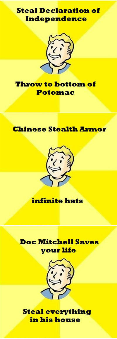 """Vault Boy Compilation Funfeinhalb. . Steal at Independence Threw ta bewteen at Patellae Chinese Stealth Anne: hari"""" wdtit, hats Dee Mitchell Saves your lite Ste"""
