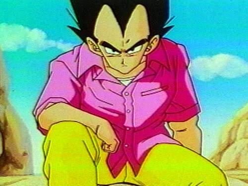 """Vegeta Pink Like!. Vegeta normal pink shirt Vegeta SSJ Pink FnF 25 likes and new DBZ fun post.. I think the final transformation for """"Super Saiyan God"""" is going to be """"Super Saiyan God Gold"""" and just be a very shiny version of Super Sai"""