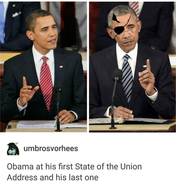 venom hussein. . hams at his first State of the Union Address and his last one