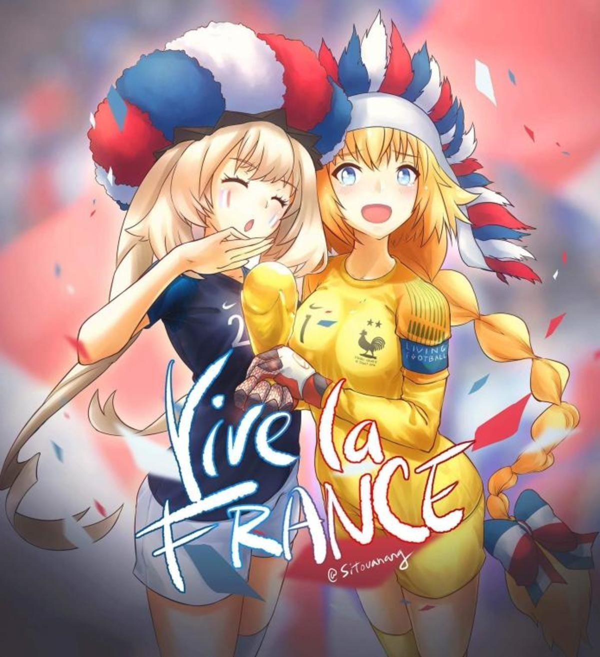 """Viva La France. join list: Lewds4DHeart (1609 subs)Mention History join list:. congratulations to the """"French"""" team for winning the world cup Team selfie!"""