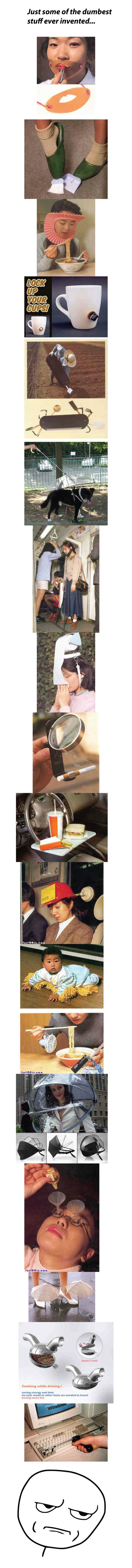 """Wait, What?. . Just some of the dumbest stuff ever invented... NEI"""" q oau Cooking while driving! """"ii' atl? that and time no can we or ulna luck an needed In and"""