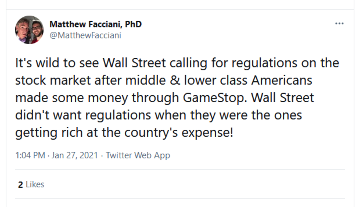 wall street demanding regulations. .. People already themselves, have moved on to running a feces mattress store!Comment edited at .