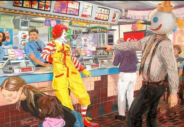 Wallpaper. Epic Wallpaper.. ketchup spill at register 4