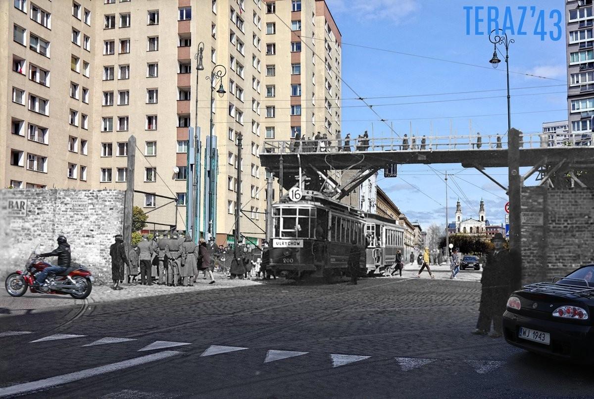 Warsaw, Poland - '43 and now. . Billas Wonk/ r um CREBERTEHAJ' 43My I 4. >still white noice