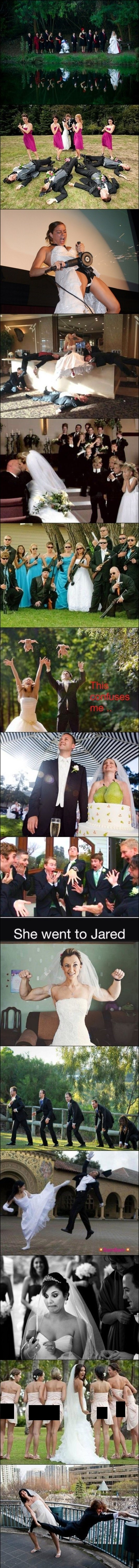 """Wedding photos. I had t censor that one pic because it looked like borderline porn.. I loved how they used the black man as the starting point """"monkeys"""". I want the uncensored butt picture."""