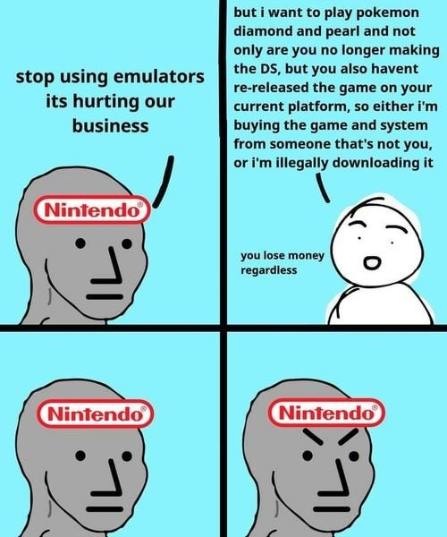 Weegeegwegegg weg. .. Nintendo for this . If they sanction an official emulator, they would make millions.Comment edited at .