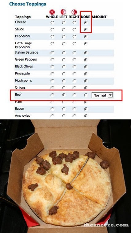 Well.... . Choose Toppings Topping: HIDDLE MOON, Cheese
