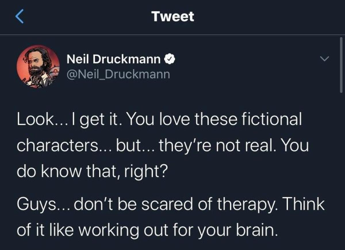 what an asshole. .. he's not wrong. some people get waaaaay too attached to these characters, and making death threats over what happens to a fictional character is childish and cr