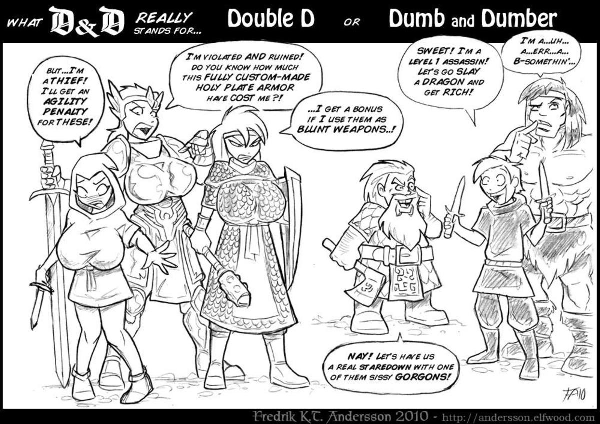 """What D&D Means. Subscribe for more D&D and gaming content. join list: DnDStuff (1416 subs)Mention History. L"""" i' Double lil I ''' l' lall and Dumber In A nu"""