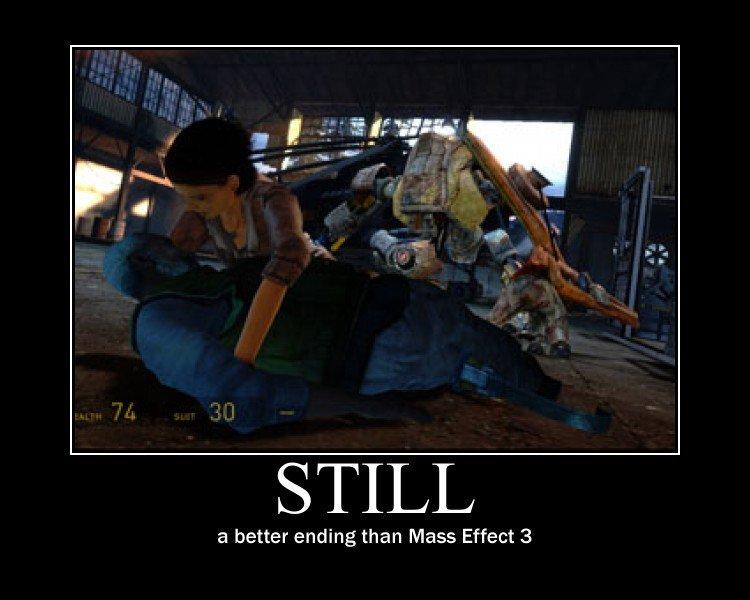 What goes there?. True, true...... STILL a better ending than Mass Effect 3