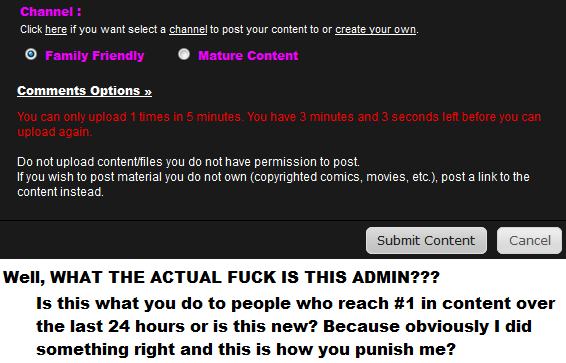 What the admin!. What the admin! Why?. Click here if you want select a channeled post your content to or create your Cwn. Comments n Do not have permission to p