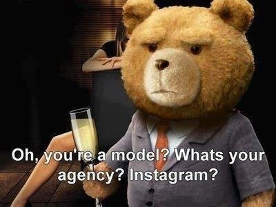 "When I see a ""model"" at Facebook. ."