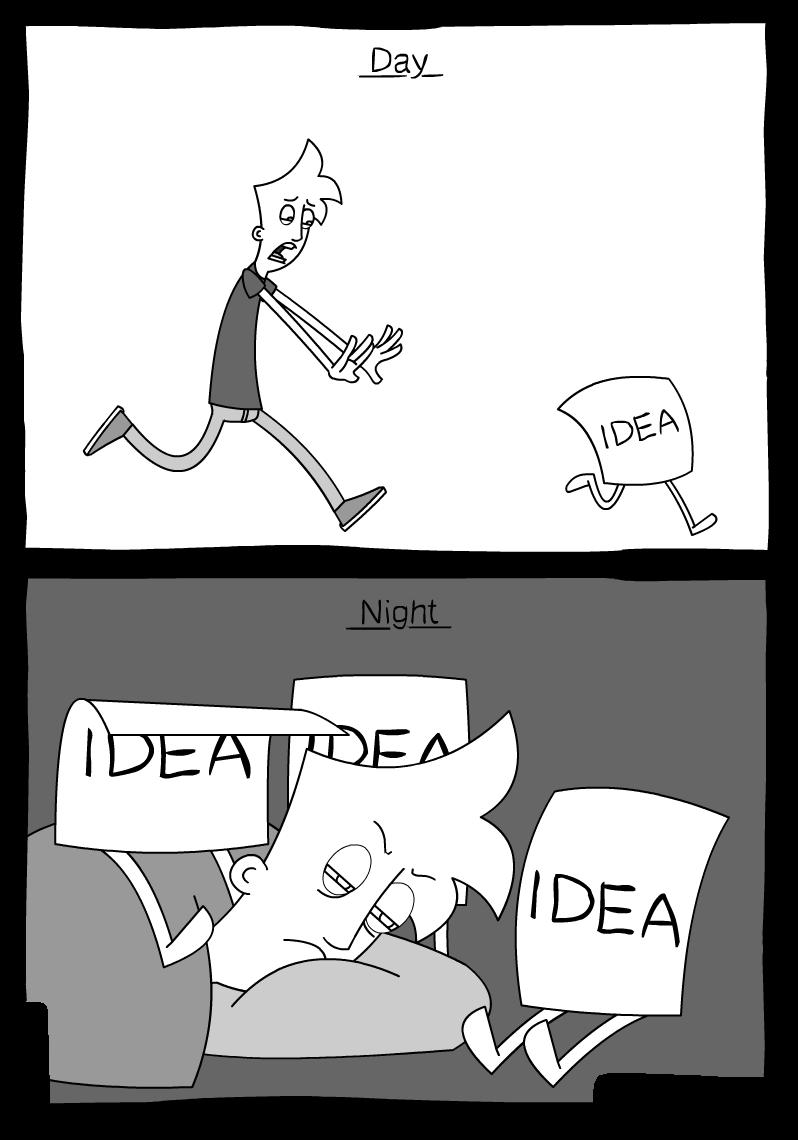Who needs ideas anyway?. .