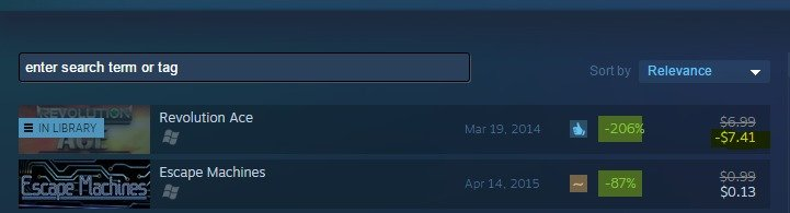 why steam is the best. why steam. Revolution Ace E IN. wait a minute..