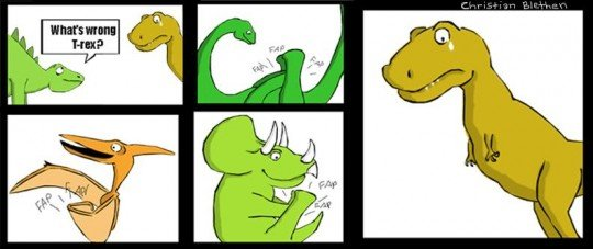 Why Is T.Rex So Sad?. credits to reddit.