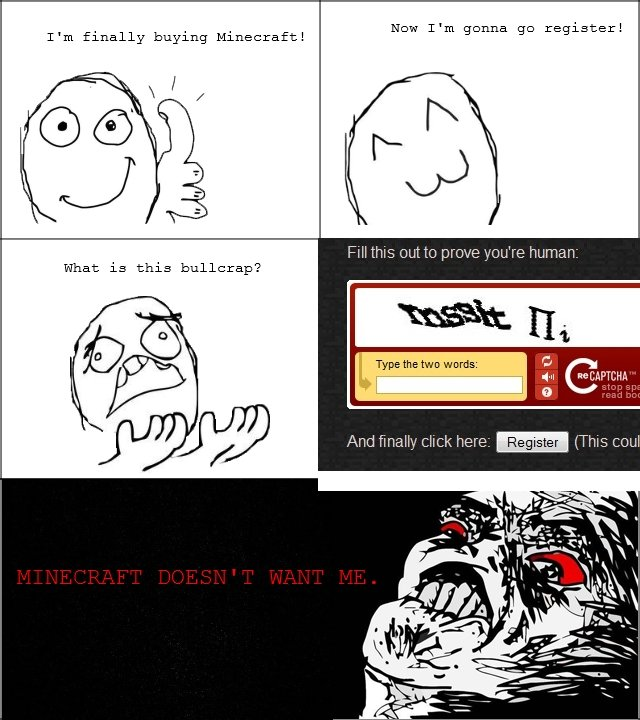 Why, Minecraft?. . I' m finally buying : Etl, New T' m ganna register! wards: ' LL' an. mssit IIi