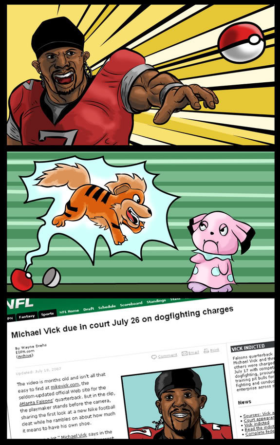 Why Michael Vick?. +0 for more.. serves da right