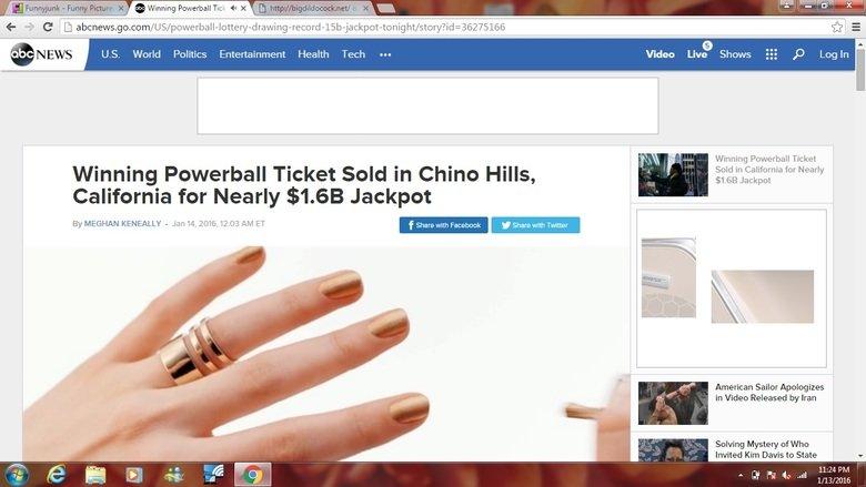 WINRAR. the winning ticket was sold in CALIFORNIA!. World Politics Entertainment Health Tech m Video Liv? Shows 'pati. Winning Powerball Ticket Sold in Californ