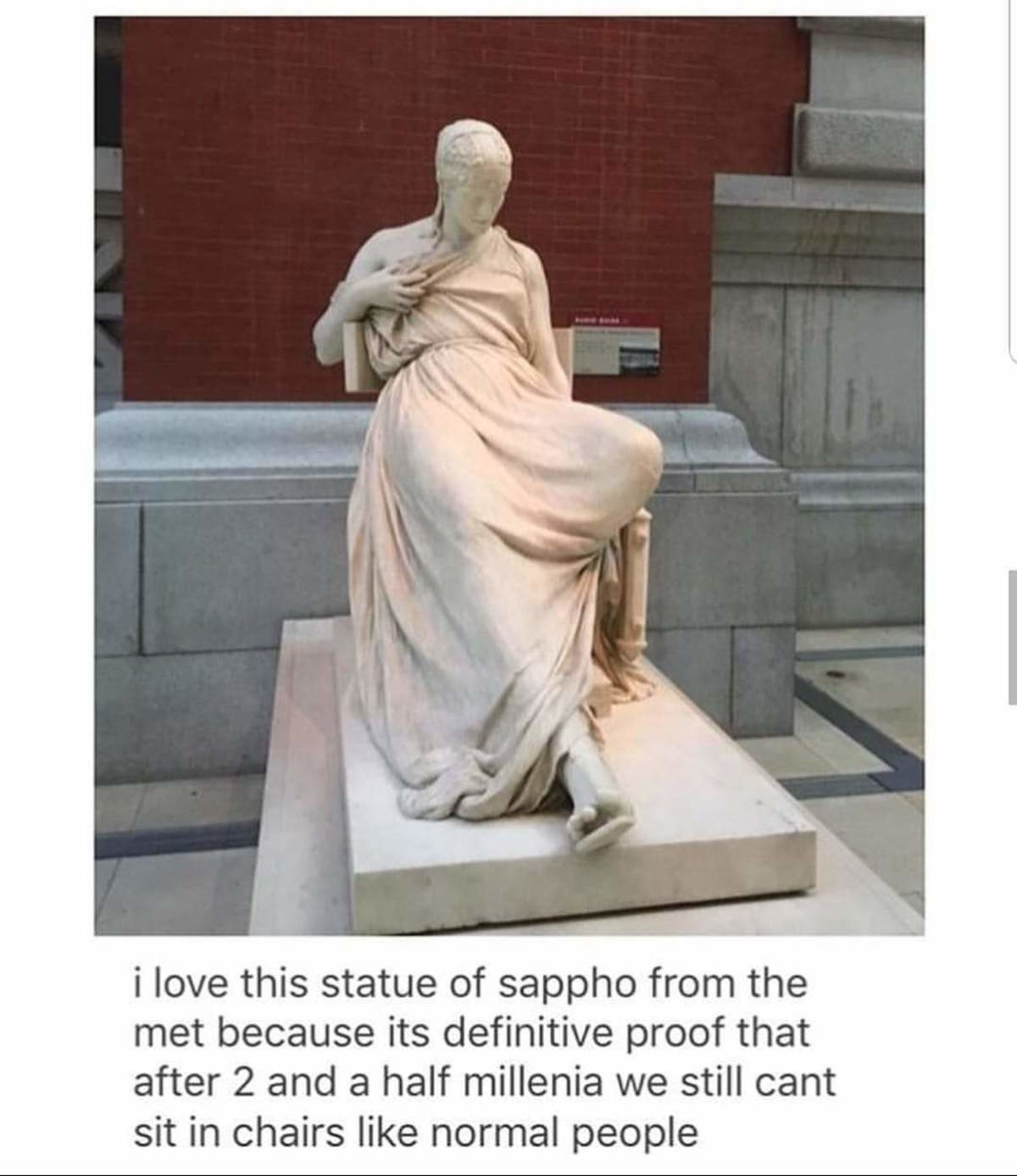 wiry Chinese. .. 30 sec google search (and casual knowledge of human history) says this statue is from 1895, not 2500 years ago, you hyperbolic snerdburglar. https://www.metmuse
