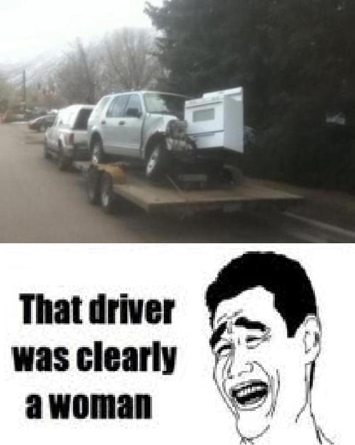 Women Drivers. AT LEAST SHE WAS IN THE KITCHEN..