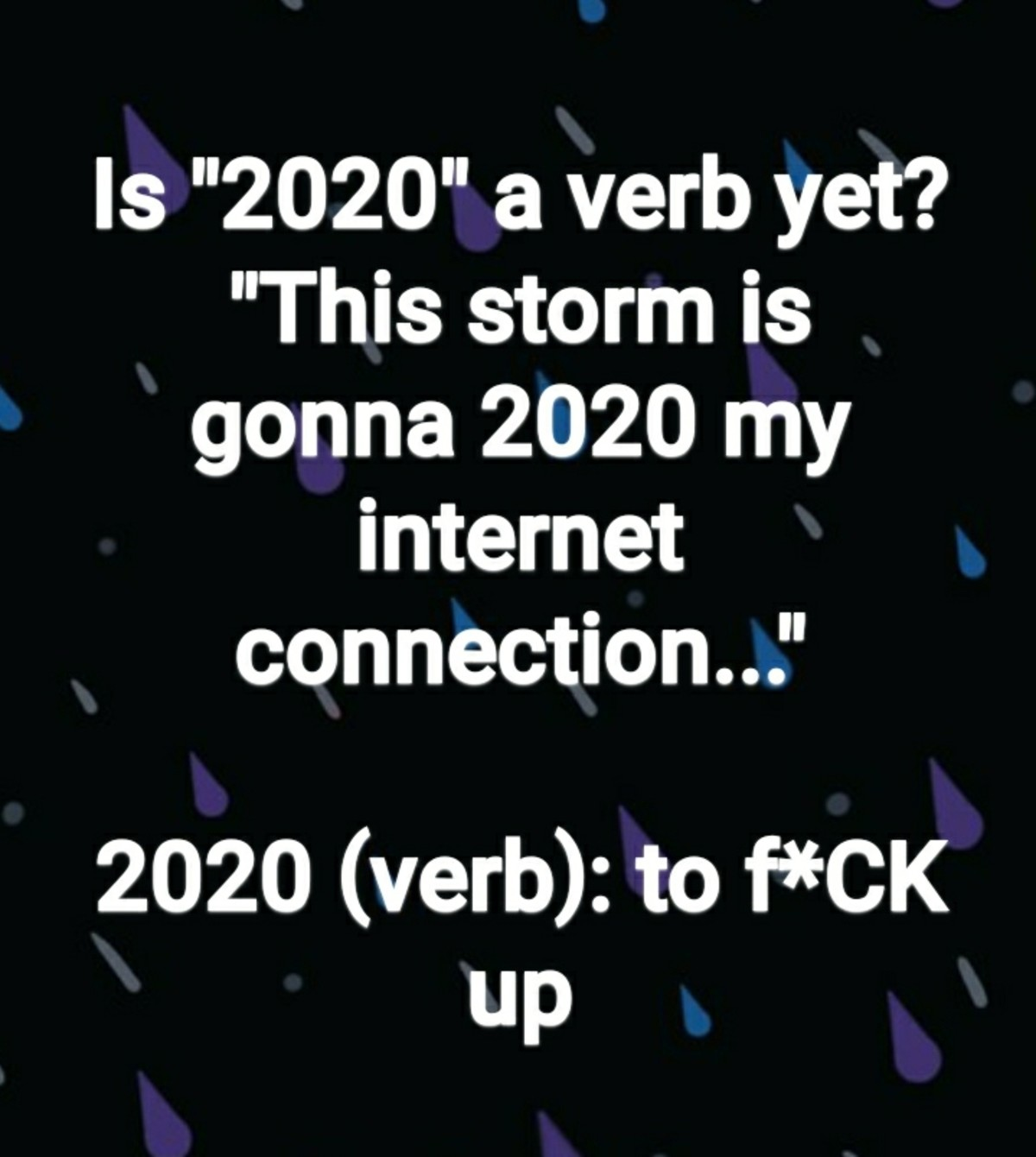 Word of the Year. .. , that mean I finally have 2020 vision?