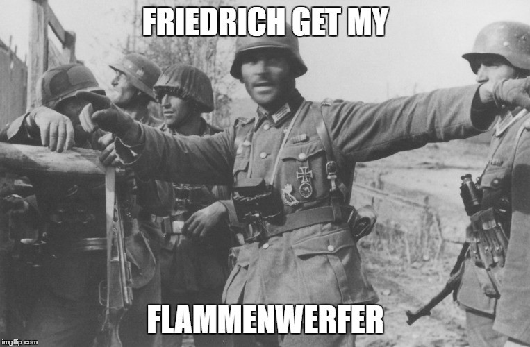 """World War Memes. .. I hate """"colorized"""" pictures Just make it black and white with gimp or something, takes 1 minute. Or make it look retro in any other way"""