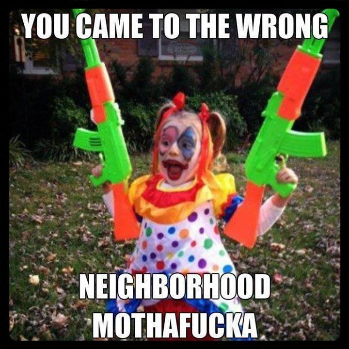 Wrong neighborhood. . YOU [KIWI TO THE ?. You think you can top my , girl?