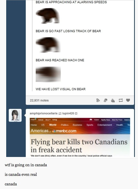 wtf canada?!. .. The news headline was inherently funny, I didn't need the two cringe comments to elucidate.