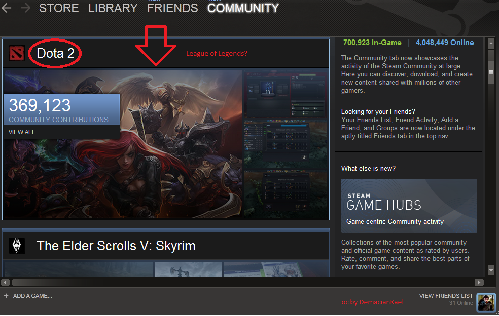 WTF Steam?. So I try this new Steam beta thing when I look at the community and see this picture at the top of the list. e STORE LIBRARY REASCENDS 700, Inflame