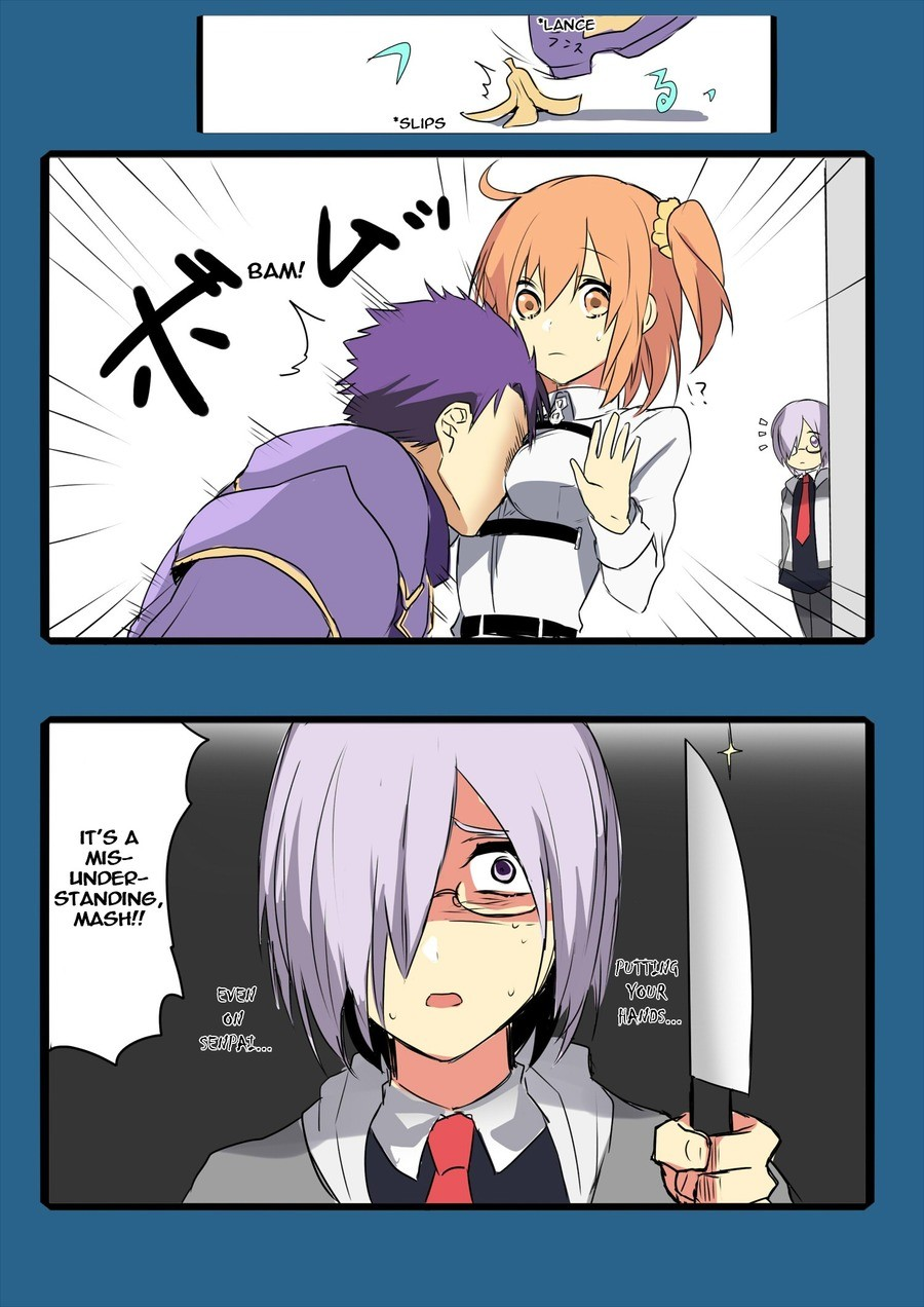 """You have bought this upon yourself. It seem that Seihai-kun give her the """"Sempai Protector"""" join list: FateStuff (525 subs)Mention History. MIS- LANDE"""