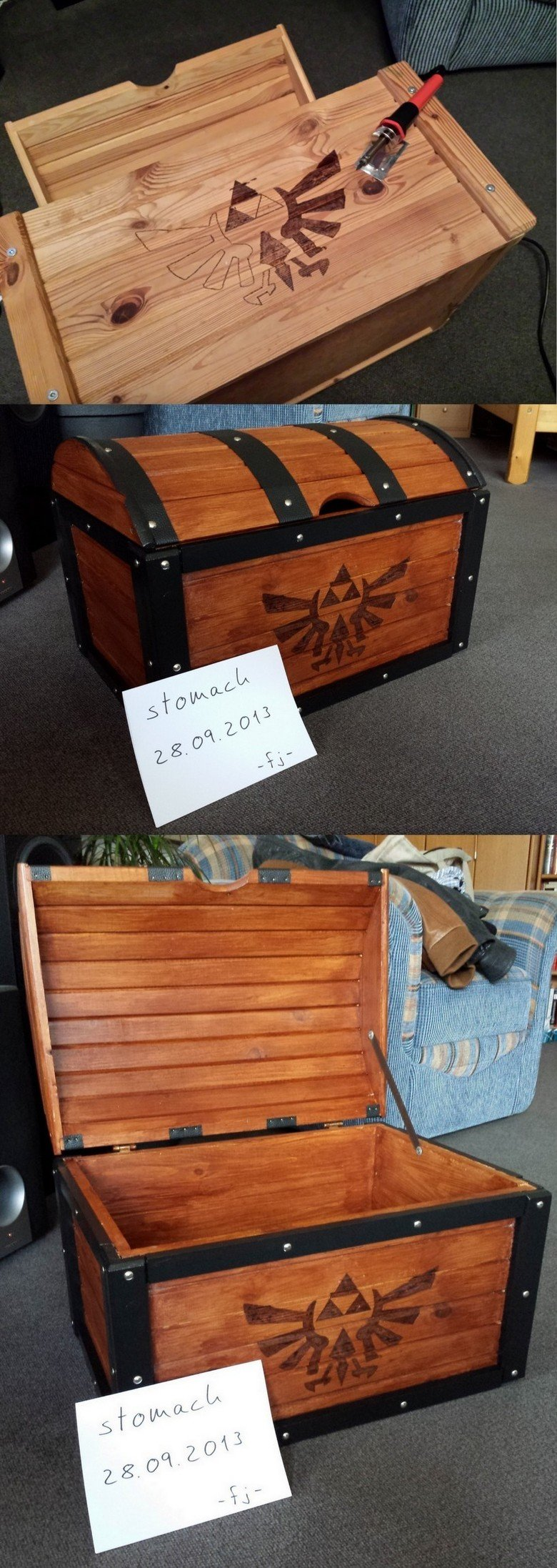 Zelda Chest - Made In Germany (100 % OC). Here people, take this! Finally, my own, self-built The Legend Of Zelda - Ocarina Of Time chest replica! My brother fo