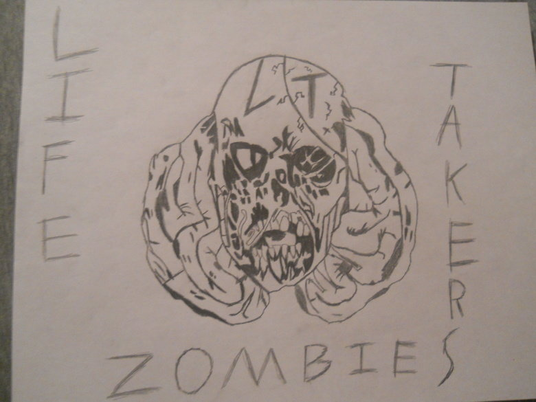 Zombie Drawing. I drew this awesome looking zombie picture awhile ago..
