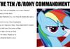 the ten /b/rony commandments