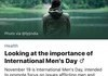Today is international men's day