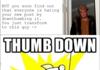 THUMB DOWN RAGE