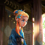 Zelda in Yukata by sermella