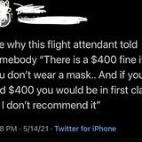 Flight attendant coming in hot.