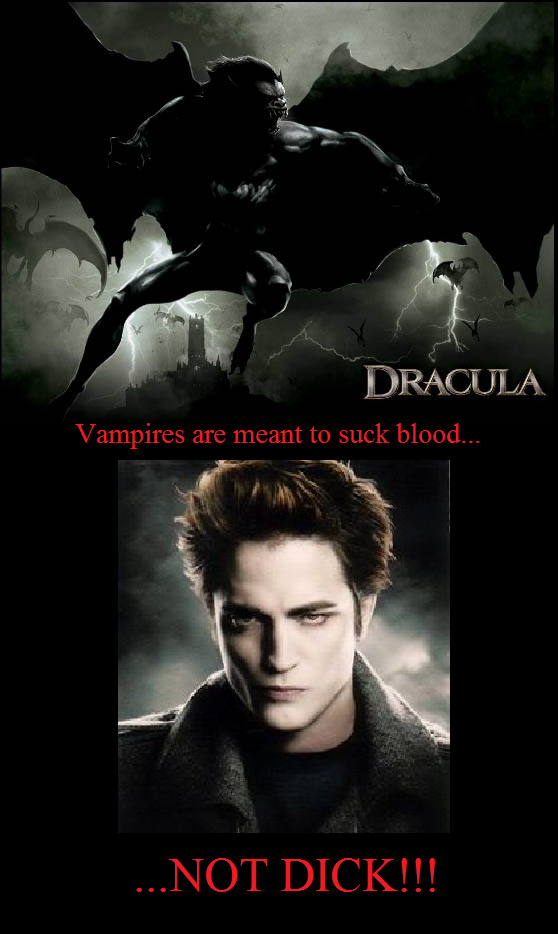 Suck blood. Bring back the cool vampires.